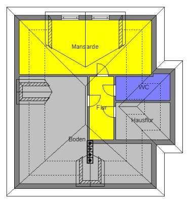 Prinzipdarstellung Dachgeschoß